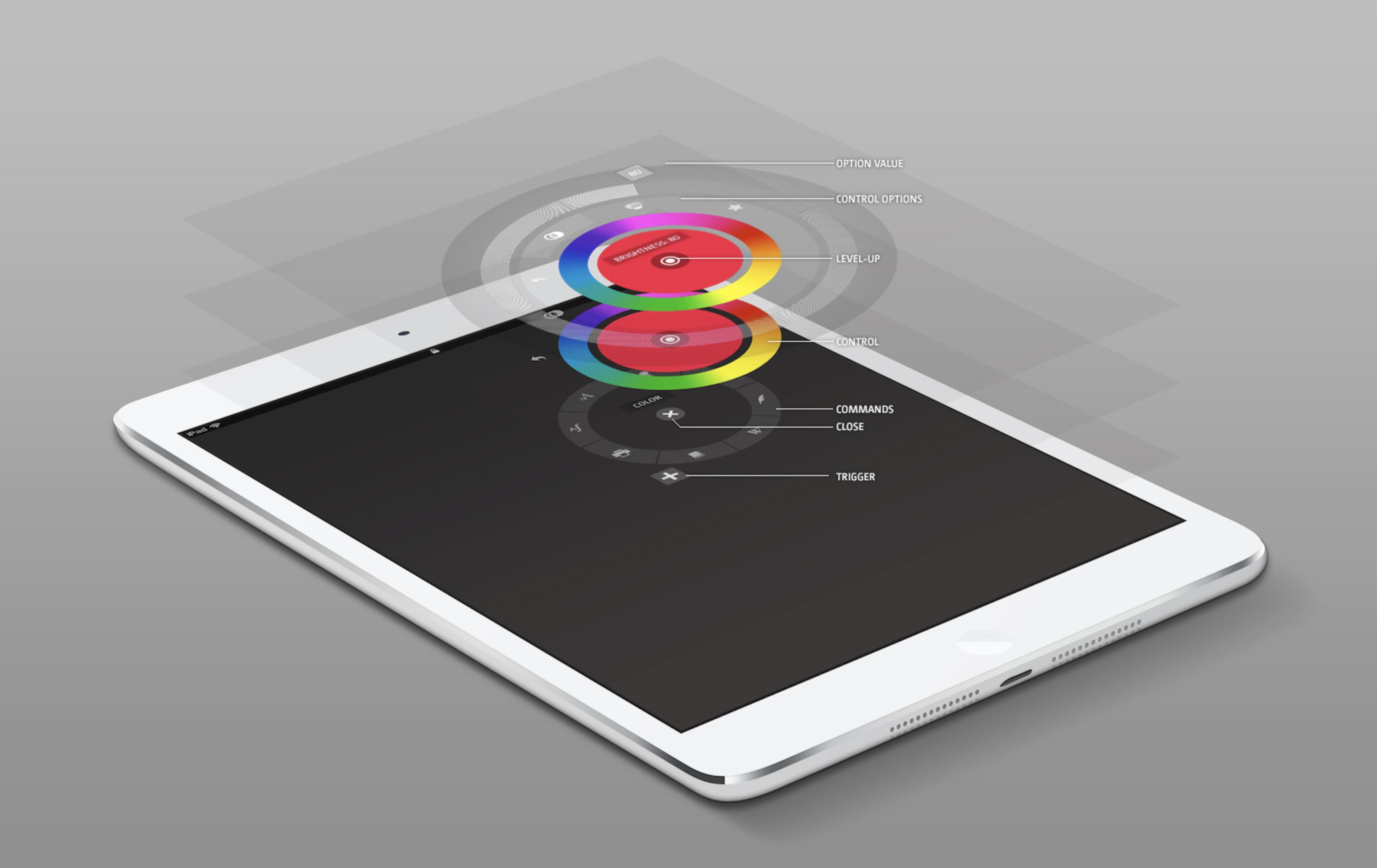 Radial menu concept