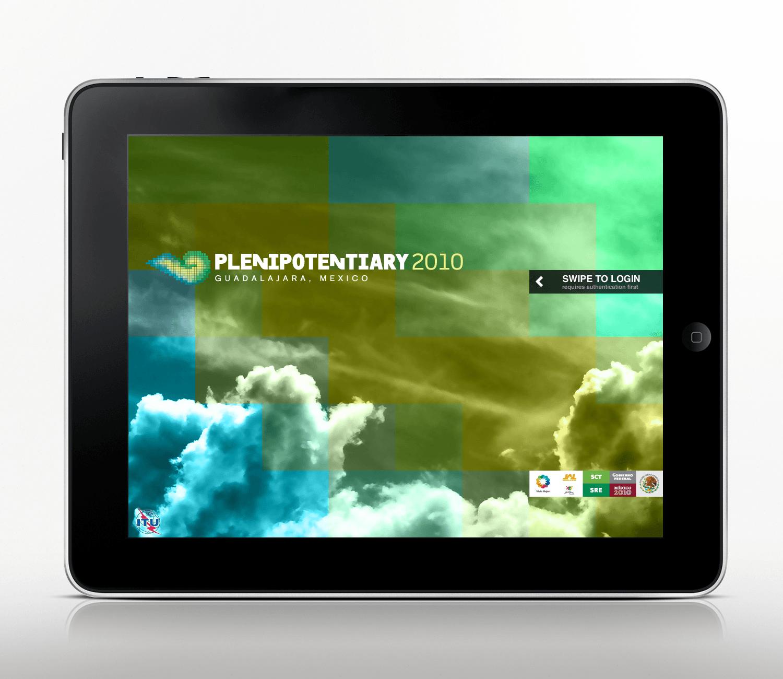 ITU Event Calendar on iPad POC